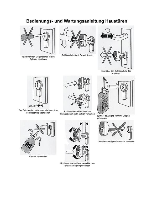 Bedienungs- und Wartungsanleitung Haustüren